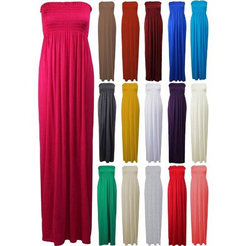 Femmes cisaillement se dépose Plus Big Taille maxi robe Mesdames haut bandeau Bustier Jupe vert