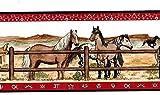 Borders–Bordüre mit Pferde-Motiv–750–8581