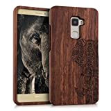 kwmobile Holz Hülle Natur Case für Huawei Mate S - Handy