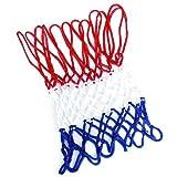 Gespout 1pcs Basketballnetz ,Standard Verstärken Basketballnetz,Haltbares Nylonnetz,12 Schleifen