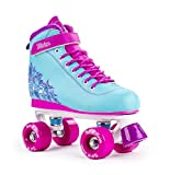 SFR Vision II Aqua Blue/Pink Limited Edition Kids Quad Roller Skates (UK 4 / EU 37)