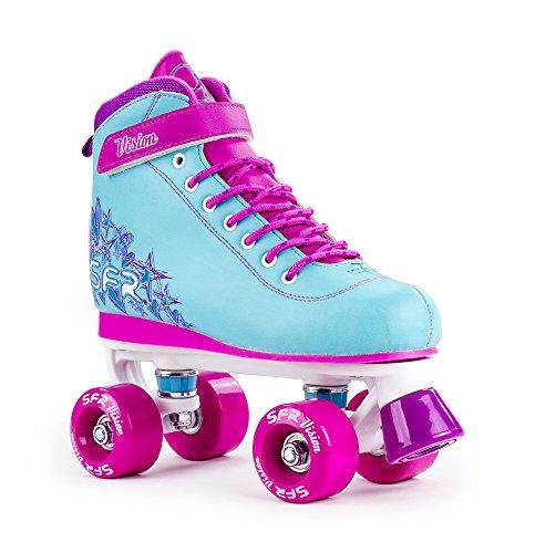 SFR Vision II Quad Skates, Aqua Blue/Pink - UK 3 / EU 35.5