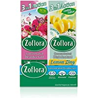 Zoflora Concentrated Disinfectant, Lemon Zing & Summer Breeze (8 x 250ml)