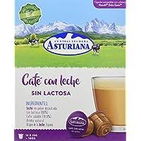 Central Lechera Asturiana Cápsulas de Café con Leche Sin Lactosa - 4 Paquetes de 16 Cápsulas