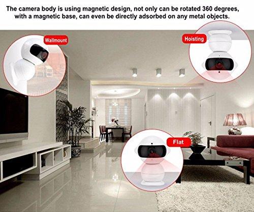 Wireless IP Überwachungskamera – ELEGIANT Mini Roboter 360 Grad Schwenkbar Drahtlose WLAN Wifi - 7