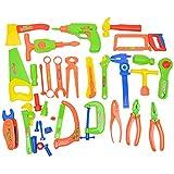 TianranRT Kinder Spiel Haus Simulation 33PC Neu Kunststoff Bauen Werkzeug Bausätze Set Kinder Diy Bau Lernspielzeug Spielzeug