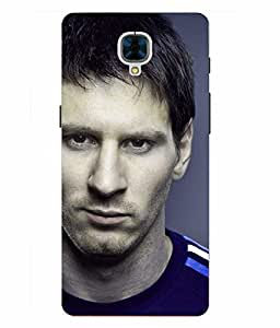 Snazzy Messi Printed Colorful Hard Back Cover For OnePlus 3