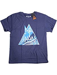 Def Leppard T Shirt - Vintage Triangle Logo 100% Official