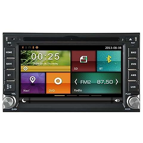autosion Auto DVD GPS Navi Autoradio für Nissan Frontier Nissan Pathfinder Versa Murano 350Z Sentra Nissan NV200Touchscreen in Dash Navigation System, Navigator, Built in Bluetooth A2DP