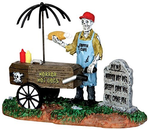 Lemax 42215 Spooky Town Ghoul Hot Dog Vendor