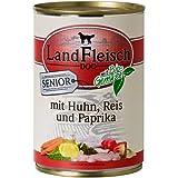 LandFleisch | Senior mit Geflügel, Reis und Paprika | 12 x 400 g