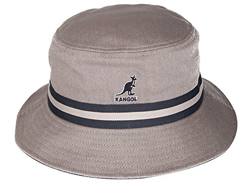 Kangol-Stripe-Lahinch-Grey-Bucket-Fischerhut