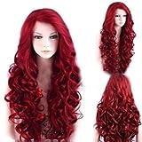 wowcos® Las mujeres sintética de oro de largo ondulado pelo rizado peluca cosplay pelo resistente al calor