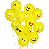 Ritche Party Globos de Látex 100 PCS Smiley Emoji Balloon Perfect Decoraciones para fiestas de cumpleaños, eventos corporativos