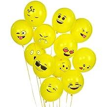 Ritche Party Globos de Látex 100 PCS Smiley Emoji Balloon Perfect Decoraciones para fiestas de cumpleaños, eventos corporativos