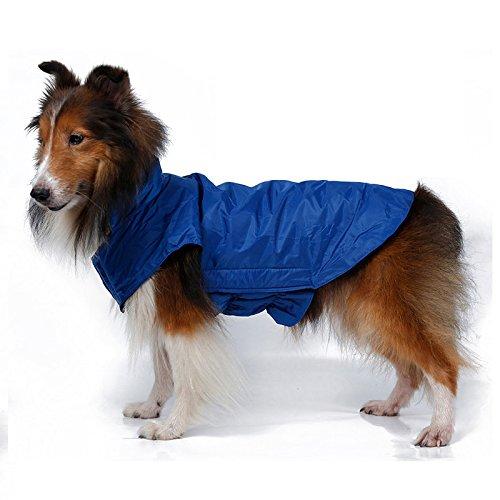 Cane Giacca impermeabile, antivento foderato in pile cane Abbigliamento Abbigliamento morbida accogliente esterno di inverno della maglia del cappotto del rivestimento impermeabile per la Small, Medium e Large Pet Dogs (Blu, XXXL)