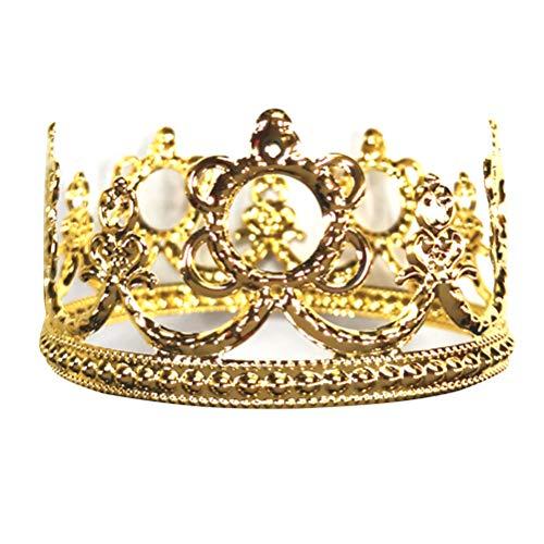wn Cake Topper Vintage Krone Braut Krone Tiara Elegante Kuchen Ornament Kuchen Dekoration für Geburtstag Hochzeit Party Supplies (Golden) ()
