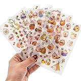 Vikenner 6 Piezas Bullet Journal Stickers Conejo lindo DIY Scrapbooking Pegatinas para Scrapbook y Bullet Journal Papelería Planificador Pegatinas Decoración - 10 x 15 cm Estilo 1