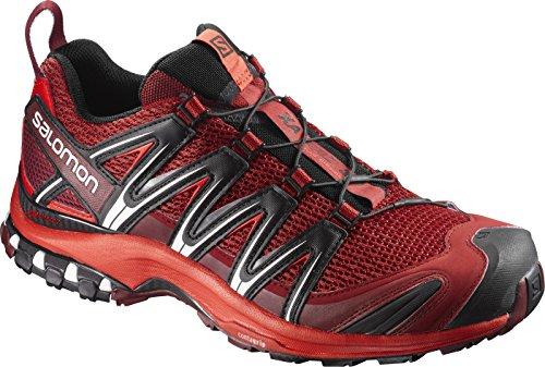 Salomon XA Pro 3D Herren Traillaufschuhe, Mehrfarbig (Red Dalhia/Fiery Red/Black), 44 EU (Athletic Red Schuh)