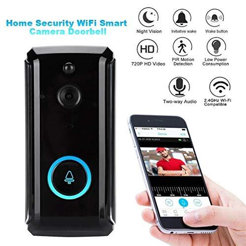 SuRose Video-Türklingel, kabellose HD 720P-Überwachungskamera Smart-Video-Türklingel-Gegensprechanlage, Remote-Echtzeit-Video-Zweiweg-PIR-Bewegungserkennung (Escort Smart)