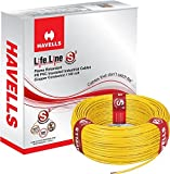 #4: Havells Lifeline Cable 1.5 sq mm wire (Yellow)