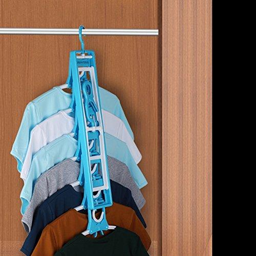 LIANGJUN La Magie Vêtements Cintres Pliable Détachable Multifonctionnel Étendoir 7 Niveaux, Longueur 40cm ( taille : Quantity 3 )