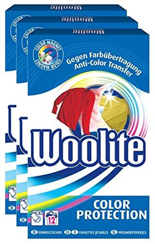 Woolite Color Protection Tücher Wäschepflege Feinwäsche Trio (3x 12 Stück)