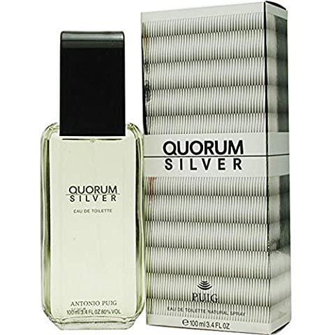 Antonio Puig Quorum Silver Eau de Toilette for Men -