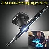 Proyector 3D Visualización de Publicidad de Holograma Ventilador LED Imágenes Holográficas 3D Ojo Desnudo Publicidad LED Ventilador Negro