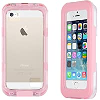 JAMMYLIZARD | Schutzhülle Salamander Waterproof für iPhone 55S, 5C und 4, Pink
