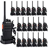 Retevis RT24 Plus Walkie-Talkie PMR446 Ricaricabile Licenza-libero Ricetrasmettitore UHF Scan 16 Canali CTCSS/DCS Caricatore USB (Nero, 20 pezzi)