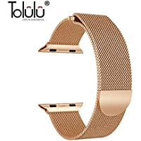 ToLuLu Various Magnetic Milanese 316 Stainless Steel Metal Band Strap Wrist Strap Bands Loop Bracelet For 38/42mm Apple Watch Series 3 2 1 iWatch