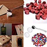 Sealing Wax Package TAOtTAO 230 Stück Octagon Wax Seal Perlen Stamp Sealing Wachs Perlen Schmelzlöffel Kit (Mehrfarbig)
