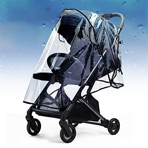 iBaste Regenhülle für Kinderwagen Universal Baby Travel Stroller Regenhülle Wasserdicht Winddicht Außenbereich mit Air Holes-Transparent