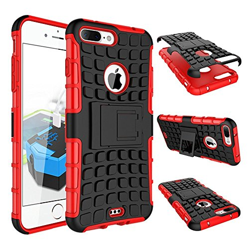 Stand Hülle für iPhone 7 Plus,Wallet Hülle für iPhone 7 Plus,Flip Hülle für iPhone 7 Plus Lederhülle Handyhülle TPU Tasche Case,EMAXELERS Cool Reifen Muster iPhone 7 Plus 5.5 inch Hülle stoßfest Schwe Tire Pattern 1