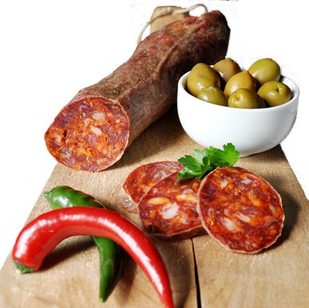 Pata Negra Bellota Chorizo, ca. 500 Gr. Höchste Güteklasse, richtig gut!
