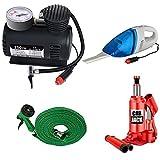 #8: Vindhvashni Trading Combo Car Care Kit Include 3 Tonn Car Jack, Vaccum Cleaner, Air Pressure Pump 300 PSI, Water Gun for Maruti Ciaz