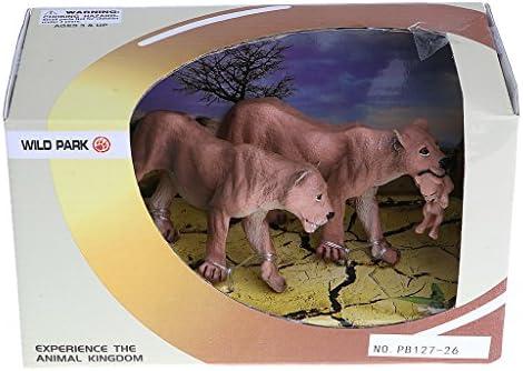 Fenteer Figures Animaux Animaux Animaux Petits Animaux Modèle Forêt Ferme pour Petit   Souvenir Fête Éducation Jouet Décoraion - Famille de Tigre edecdc