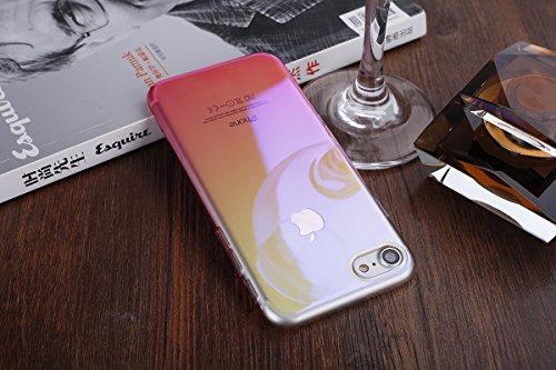 iPhone 6S Hülle,iPhone 6 Hülle,ikasus® Hard Hart Hülle Schutz Handy Hülle Case Tasche Etui Bumper Crystal Case Hülle für Apple iPhone 6S / 6 (4,7 Zoll) Verlauf Farbe Mirror Weich Hard Bumper Hart Hüll Rot
