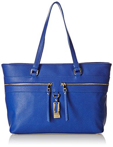 Pollini Studio Shopping Orizzontale con Zip, Bluette, 46 cm