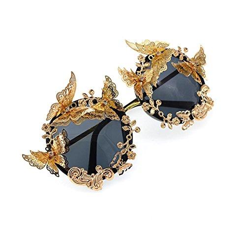 Z&YQ Sonnenbrille Mode Modelle Modelle dreidimensionale 3D Schmetterling Diamant Gravur sexy übertrieben Partei Sonnenbrille, b