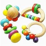 Babys Self jouer Jouets en bois, jouets éducatifs enfants Poignée Hochet Bell pour nourrisson, bébé musical Instrument de percussion, Merveilleux Cadeau (1PCS aléatoire)