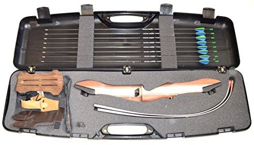 Bogenset Einsteigerset Ragim Wildcat Recurvebogenset mit 8 Carbonpfeilen, Koffer und viel Zubehör
