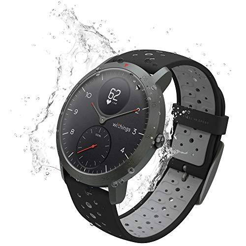 Withings Steel HR Sport - Multi-Sport Hybrid Smartwatch - Herzfrequenz- und Fitnesstracker, schwarz, 40mm - 3