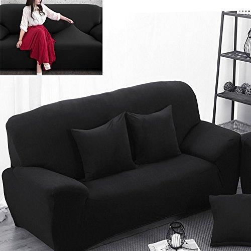 2 Sitzer Sofabezug Sesselbezug Sofahusse Sesselhusse Elastisch Verfügbar In Verschiedenen Größen Schwarz
