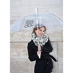 Paraguas original con cita ingeniosa.
