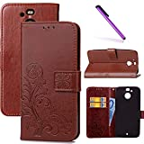 LEECOCO HTC Bolt Case, HTC 10 EVO Case Embossed Lucky