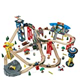 KidKraft 17809 Eisenbahn-Set Super Highway, naturfarben