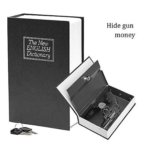 Coffre de sécurité en forme de dictionnaire avec serrure à clé - 2clés incluses - 24 x 15,7 x 5,6cm