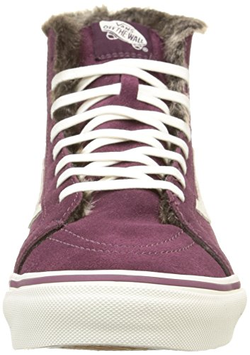 Vans Sk8-Hi, Baskets Basses Mixte Adulte Violet (Fig/Marshmallow)